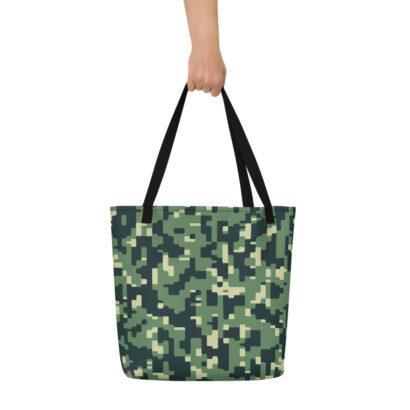 sac de plage avec motif camouflage main