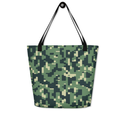 sac de plage avec motif camouflage accroche porte