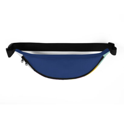 sac de taille dessus bleu