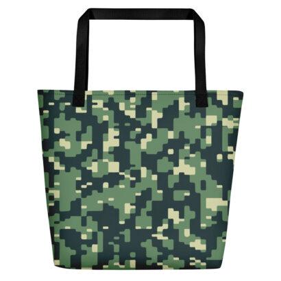 sac fourre-tout avec motif camouflage vue face
