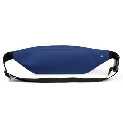 sac de taille bleu vue de dos avec logo s en coin