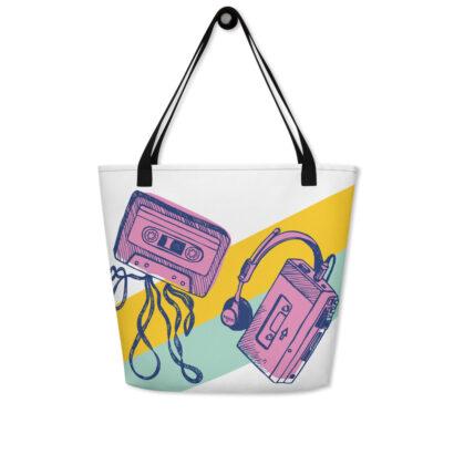 sac de plage walk man et cassette face