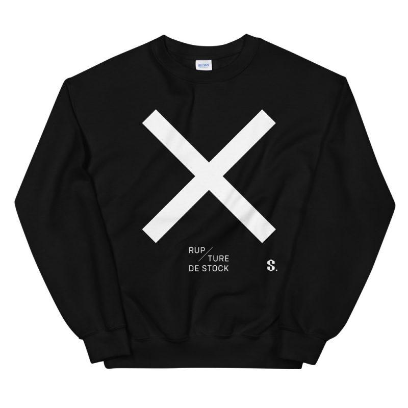 le coton ouaté noir avec x blanc collection rupture de stock